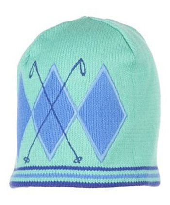 Pool Green Poles Knit Beanie