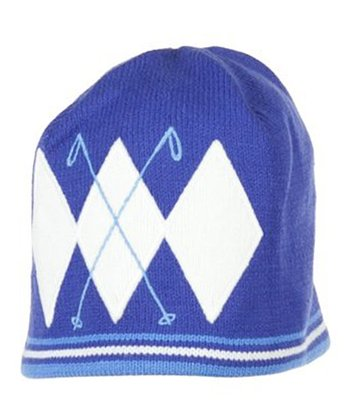 Cosmic Blue Poles Knit Beanie