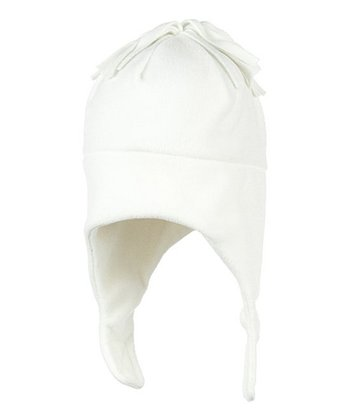 Marshmallow Orbit Fleece Earflap Beanie