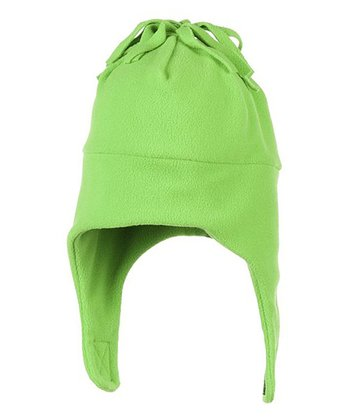Pro Green Orbit Fleece Earflap Beanie
