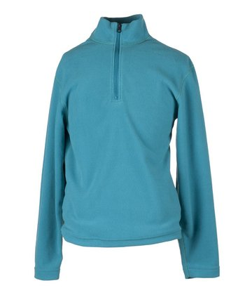 Jewel Micro Zip Long-Sleeve Top - Girls