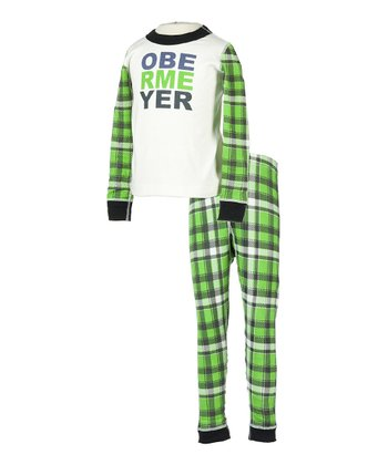 Pro Green Plaid Ober-Undies Underwear Set - Toddler