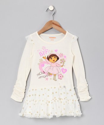 Light Beige 'Hola Amiga' Dress - Infant & Toddler