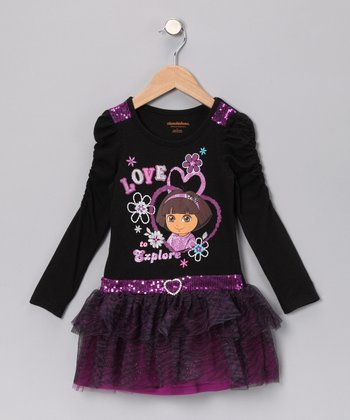 Black 'Love to Explore' Dress - Infant & Toddler