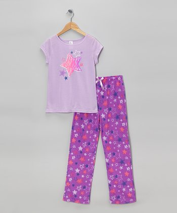 Lilac Star Pajama Set - Girls