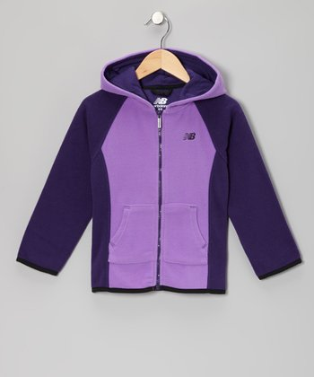 Purple Zip-Up Hoodie - Girls