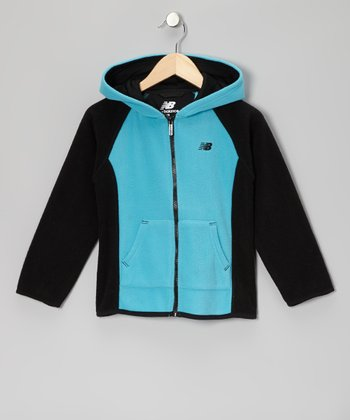 Turquoise Zip-Up Hoodie - Girls