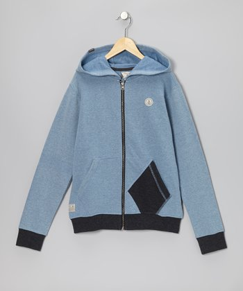 Air Force Blue Sepulveda Zip-Up Hoodie - Boys