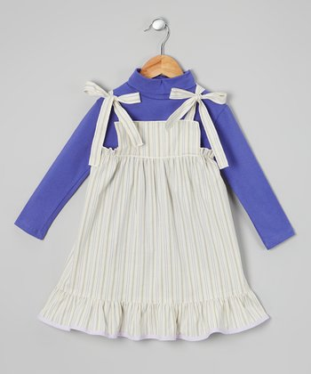 Lavender & Blue Stripe Dress & Top - Infant, Toddler & Girls