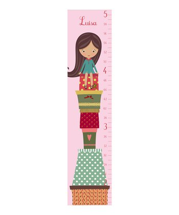 Pink Presents Personalized Growth Chart