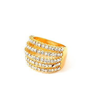 Gold Crystal Fergie Ring
