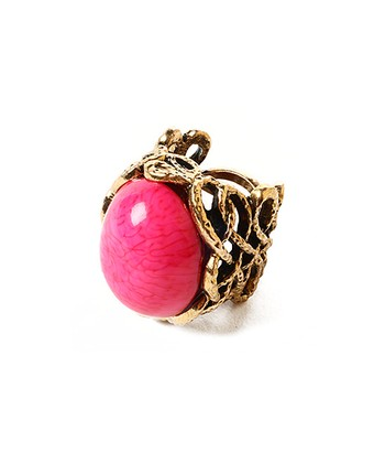 Gold & Fuchsia Bridgehampton Ring