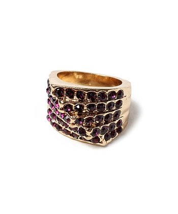 Gold & Purple Nopala Ring