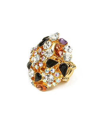 Gold Crystal Havilland Ring