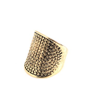 Antique Gold Maxtla Ring