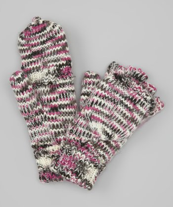 Black & Pink Flip Gloves