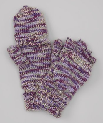 Vivid Grape & Gray Flip Gloves