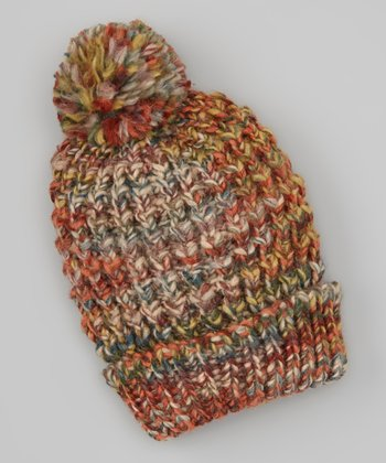 Red & Green Pom-Pom Beanie