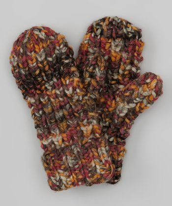 Dark Gray & Orange Mittens