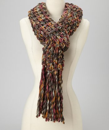 Dark Gray & Orange Scarf