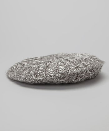 Icy Gray Sequin Marl Beret