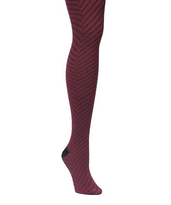 Red Plum Optic Chevron Sweater Tights - Women