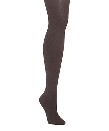 Brown Heather Sweater Tights - Women