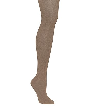 Light Taupe Heather Sweater Tights - Women