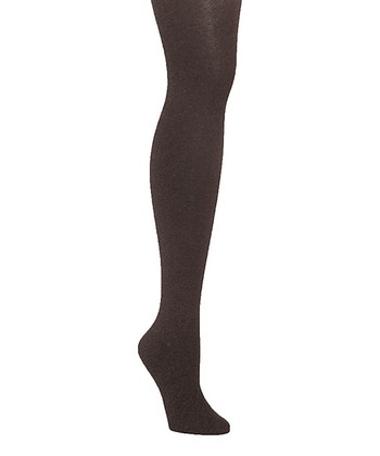 Brown Heather Sweater Ribbed Tights - Women & Plus