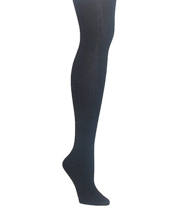 Denim Heather Sweater Ribbed Tights - Women