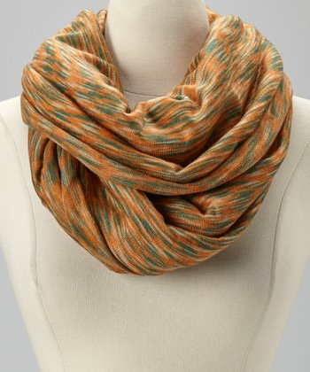 Orange Hazy Infinity Scarf
