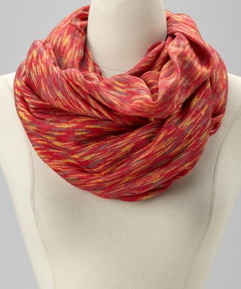 Red Hazy Infinity Scarf
