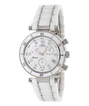 White Sophie Ceramic Elite Chronograph Watch