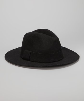 Black Panama Wool Hat