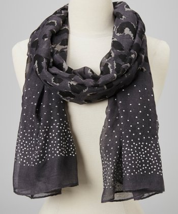 Black Stud Animal Scarf
