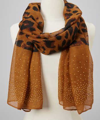 Brown Stud Animal Scarf