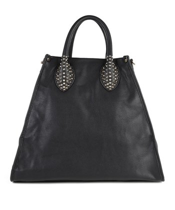 Black Stud Handle Tote