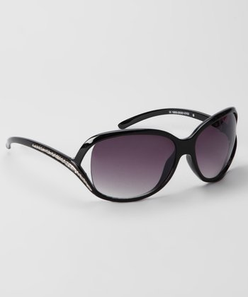 Black & Smoke Cutout Fashion Sunglasses