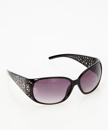 Black Art Deco Sunglasses