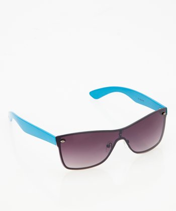 Black & Neon Blue Sunglasses