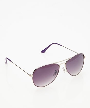 Purple Traditional Pilot Sunglasses