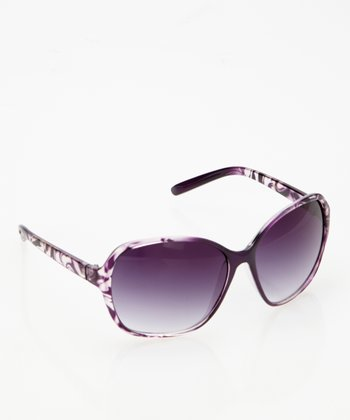 Purple & Clear Butterfly Sunglasses