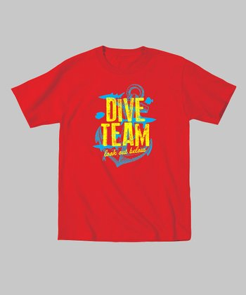 Red 'Dive Team' Tee - Toddler & Kids