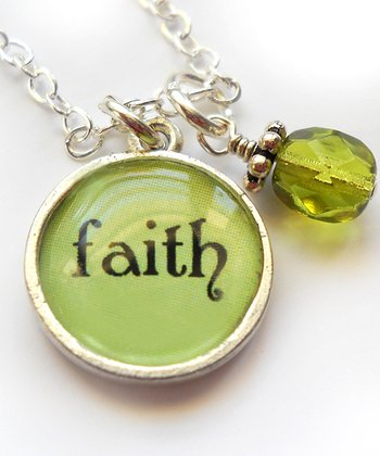 Silver 'Faith' Pendant Necklace