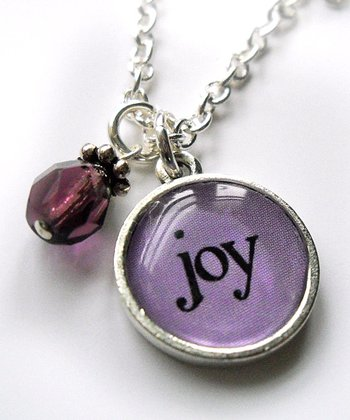 Silver 'Joy' Pendant Necklace