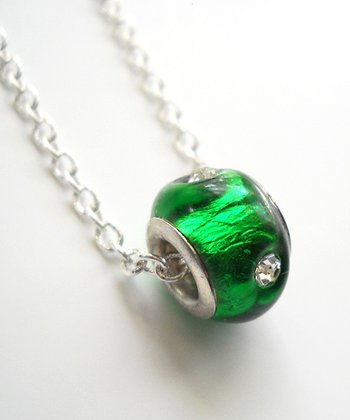 Emerald Crystal Bead Necklace