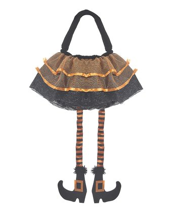 Black Witch Leg Treat Bag
