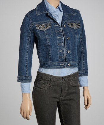 Island Wash Cropped Denim Jacket