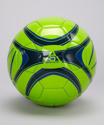 Green & Royal Blue XB1 LII Soccer Ball