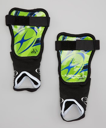 Green & Royal Blue XG1 LI Shin Guards